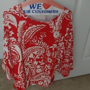 Chico Size 2 (similar to XL)  Print Top